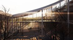 Sou Fujimoto and Coldefy & Associés Propose a Sweeping Canopy for French Court House,Courtesy of MIR