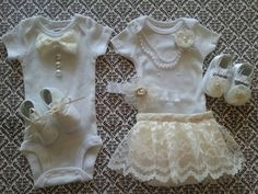 Boy Girl TWIN Outfits Newborn Take Home Formal by LeopardLaceLove
