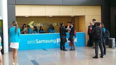 Desde temprano, el registro estaba listo para darle la bienvenida a todos los asistentes al Foro #Samsung 2013.