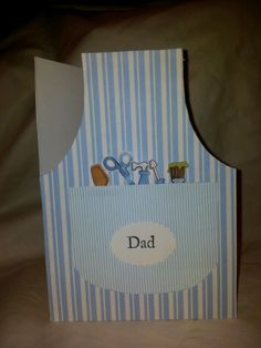 Something different for me a shaped card. Apron shaped with diy tools for a dad