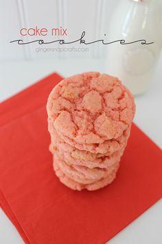 Cake Mix Cookies Recipes at GingerSnapCrafts.com #cookies #recipes