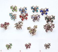 Visit to Buy  1 pc Rhinestone Dainty Butterfly Hairpin Brides Hair Pins  Clip Hair 76e7592bde10