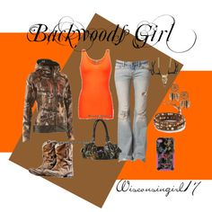 """""""Backwoods Girl"""" love this look! Was just talking about dressing in my camo the other day with my handsome man when we go hunting!!!"""