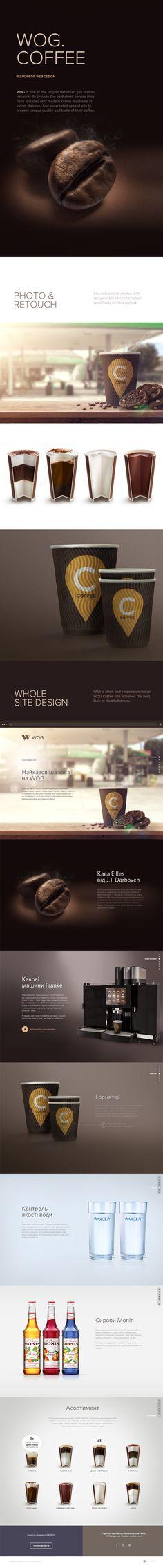 WOG Coffee site by Aimbulance Agency, via Behance