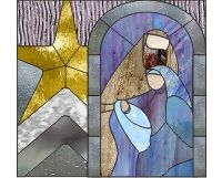 contemporary stained glass patterns   Christmas Nativity