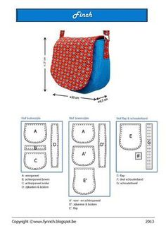 New Sewing Purses And Bags English Ideas Purse Patterns, Sewing Patterns Free, Free Pattern, Sewing Projects For Beginners, Sewing Tutorials, Free Tutorials, Sewing Crafts, Bag Quilt, Diy Sac