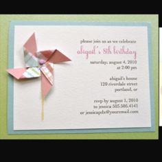 Pinwheel invite