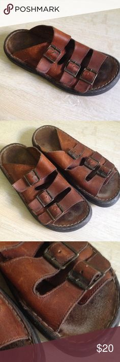 7312d8e7c8f20d Men s leather sandals G.H. Bass  amp  Co brown leather sandals. Size 8 M.