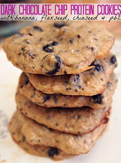 Dark Chocolate Chip Protein Cookies