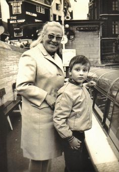 Me and my mom at the canal cruise boats in Amsterdam 1967