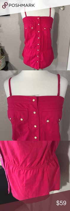 True Religion Pink Snap Top Size M Z True Religion Tops Tank Tops
