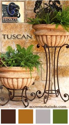 So Tuscan is your style. Tuscan Furniture and Accessories… You'… So Tuscan is your style. Tuscan Furniture and Accessories… You'll ♥Accents of Salado online shopping. Tuscan Garden, Tuscan House, Tuscan Decorating, Porch Decorating, Interior Decorating, Decorating Ideas, Garden Art, Garden Design, Garden Ideas