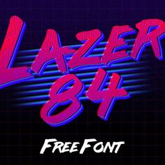 Retro Style (Art Direction/Design) Lazer 84 - I love the style of the and this site has a lot of cool FREE fonts. - Add age, texture and depth to your designs with this compilation of retro fonts – and they won't cost you a penny. Free 80s Fonts, Best Free Fonts, Vaporwave, New Retro Wave, Retro Waves, Handwritten Fonts, Typography Fonts, Typography Design, Hand Lettering