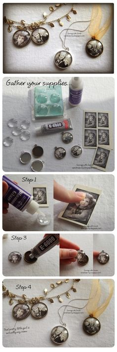DIY Photo Pendant diy craft craft ideas diy crafts diy projects crafty diy photo pendant