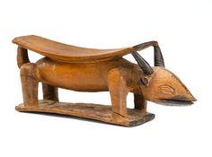 Yaka Headrest, Democratic Republic of the Congo Wood height 4 1/4 (10.8cm); width 10 1/2in (26.7cm)