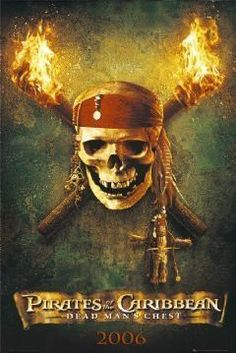 PIRATES OF THE CARIBBEAN POSTER -DEAD MAN'S CHEST SKULL #OrlandoBloom