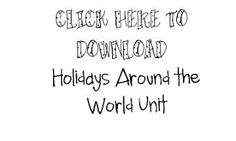 Holidays Around the World. This is a lesson plan that teachers can download to teach their students about the different holidays around the world. This 10 day lesson covers four different countries and includes a variety of instructional activities. Even though this is a 1st grade lesson modifications could be made to teach our 3rd grade lesson about comparing local cultural celebrations with other communities' celebrations. (TEKS 3.13B)