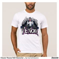 Classic Venom Yell Character Art T-Shirt. Personalize these Classic Marvel character designs and make perfect gifts for any fans. #marvel #comic #gifts #birthday #birthdayparty #birthdaycard #personalize #kids #shopping