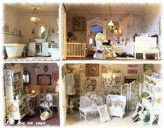 Shabby Chic Dollhouse Interiors