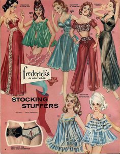 vintage Frederick's of Hollywood ad- loved looking through my Mother's Frederick's catalog