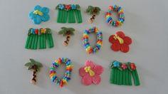Fondant Hawaiian Luau Cupcake Toppers. $18.00, via Etsy.