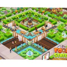 #FoodStreetGame Food Street Game, Sims House, Restaurant Design, Food Game, Mansions, Games, House Styles, Pictures, Beautiful