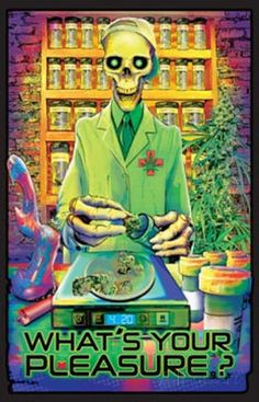 What's Your Pleasure - Medical Marijuana Pot Dispensary Blacklight Poster Posters at AllPosters.com = $10.49