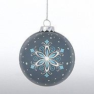 Hand-Painted Ornament Bulb - Snowflake | Baudville