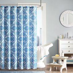 Com Bluebellgray Shower Curtain Fleur Home Kitchen Credit To Amazon Dp B0749YTR6G