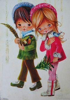Vintage Big Eyed Kids Postcard | by L.Dobón | Sillyshopping | Flickr