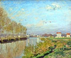 "artist-monet:  ""Argenteuil, The Seine, 1872, Claude Monet  """