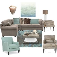lovely colors by wendycecille on Polyvore featuring interior, interiors, interior design, дом, home decor, interior decorating, TemaHome, Jonathan Charles Fine Furniture, Kenroy Home and Kaleen