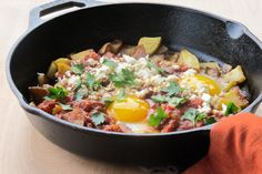 Home / Recipes / Skillet Potatoes with Eggs and Middle Eastern-Spiced Tomato Sauce Skillet Potatoes with Eggs and Middle Eastern-Spiced Tomato Sauce Breakfast Dishes, Breakfast Time, Breakfast Recipes, Healthy Potatoes, Skillet Potatoes, Potato Dishes, Vegetable Side Dishes, Tomato Sauce, Food For Thought