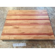 Artisan Crafted Solid Maple Hardwood Side Grain Cutting Board with... (1 345 UAH) ❤ liked on Polyvore featuring home, kitchen & dining, kitchen gadgets & tools, maple wood cutting board, maple chopping block, maple cutting board and hardwood cutting boards