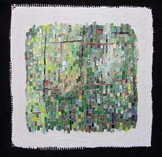 abstract mosaic greens