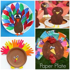 Here are fun thanksgiving paper plate crafts for kids to make! Find turkeys, pumpkin pies, pilgrims, hats, and more!