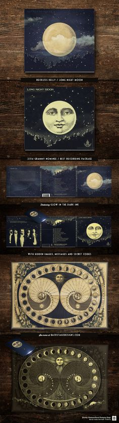 Reckless Kelly / Long Night Moon / 2014 GRAMMY Nominee for Best Recording Package - Shauna Dodds & Sarah Dodds, Art Directors / See more at http://www.BackstageDesigns.com