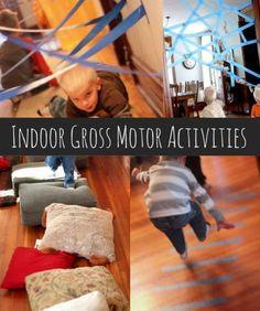 Indoor gross motor activities for kids