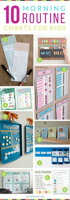Morning Routine Charts For Kids | Hacks, Tips and Tricks for Organized, Stress-Free Mornings with kids