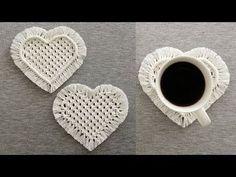Macrame Art, Macrame Design, Macrame Projects, Macrame Knots, Macrame Plant Hanger Patterns, Macrame Patterns, Half Hitch Knot, Heart Diy, Micro Macramé