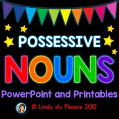 Possessive Nouns - PowerPoint and worksheets. Join Clean Class TV and learn how to form possessive nouns using apostrophes! Nouns Worksheet, Worksheets, 2nd Grade Ela, Second Grade, Clean Classroom, 3rd Grade Activities, Possessive Nouns, Proper Nouns, Have Fun Teaching