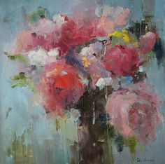 "Spring Vibe 48x48"" Art of Julia Klimova  