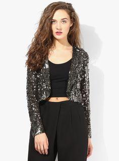 Buy Miss Selfridge Multicoloured Embroidered Jacket Online - 3719224 - Jabong Lakme Fashion Week, Embroidered Jacket, Miss Selfridge, Short Dresses, India, Blazer, Casual, Jackets, Shopping
