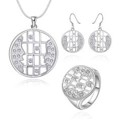Sets 925 Silver Jewelry Sets 925 Silver Inlaid Zircon Sets Women's Trendy Jewelry Wholesale Free Shiping asdf LS663