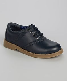 Another great find on #zulily! Navy Play It School Leather Oxford by Kenneth Cole #zulilyfinds