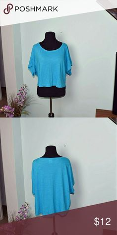 PINK by Victoria's Secret Flowy Blue Top In excellent condition. Super soft and cute PINK Victoria's Secret Tops Blouses