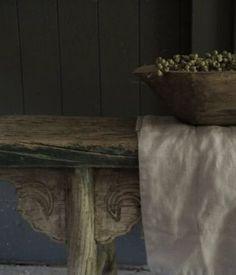 Oud Antiek chinees houten bankje