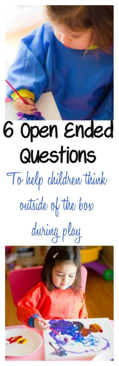 Imprints From Tricia : 6 Open Ended Questions To Ask During Play. Great ideas of open-ended questions that can give the CCLS good insight into what the child is thinking. Therapy Activities, Toddler Activities, Learning Activities, Play Therapy, Montessori Activities, Speech Therapy, Inquiry Based Learning, Early Learning, Kids Learning