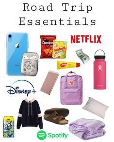 High School Essentials, Travel Essentials List, Airplane Essentials, Travel Bag Essentials, Road Trip Checklist, Travel Packing Checklist, Road Trip Packing List, Road Trip Hacks, Teen Trends