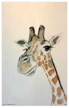 Cute giraffe painting for a child's room.